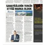 Satış Direktörümüz Sn. Mehmet Çakmur'un röportajı