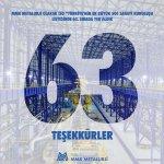 """MMK Metalurji olarak """"Türkiye'nin en büyük 500 Sanayi Kuruluşu  listesinde 63. sırada yer aldık."""